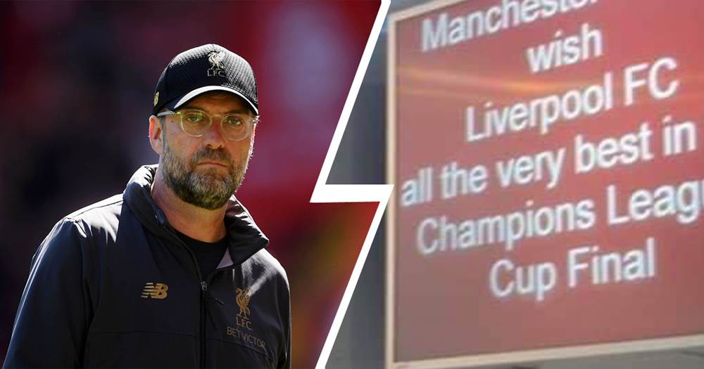 Manchester ariport wish Liverpool 'all the very best' in