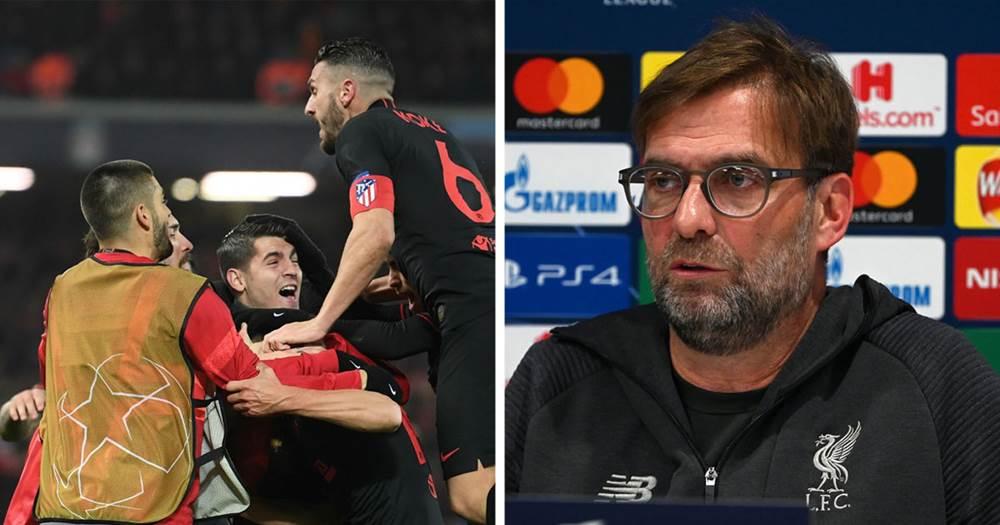 'They could play proper football but they stand deep' Klopp moans about Atletico style just like he did about United