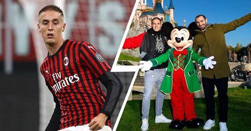 Milan-Juve anche a Disneyland: la foto di Conti e Chiellini