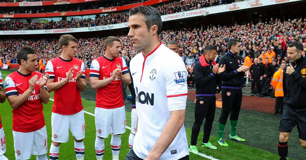 Van Persie opens up on receiving a guard of honour from Arsenal ...