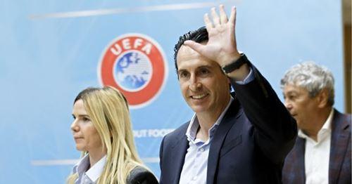 Unai Emery takes part in UEFA Elite Coaches Forum