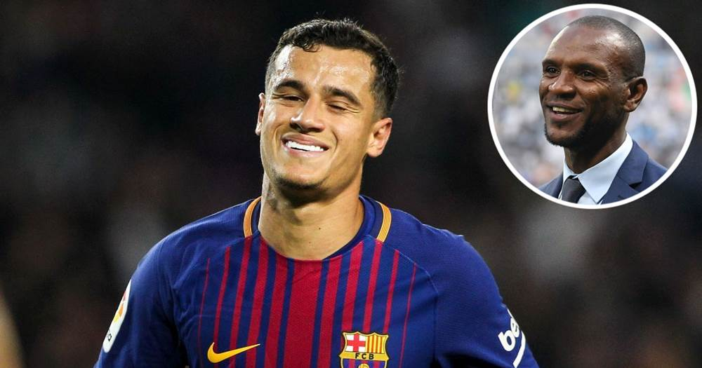 Image result for Eric Abidal and Philippe Coutinho