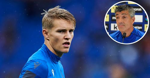 Real Sociedad boss talks up Odegaard's efforts to get back from injury