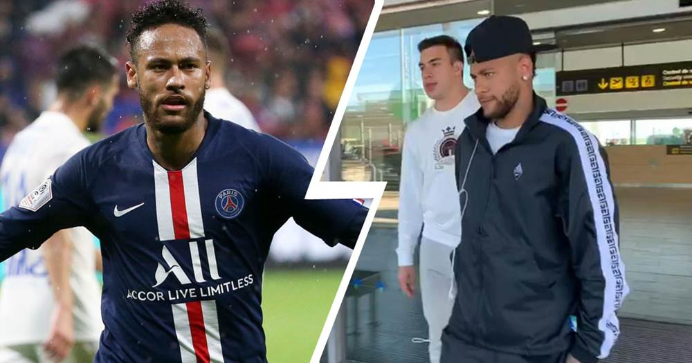 Neymar lands in Barcelona...to testify in court case against the club