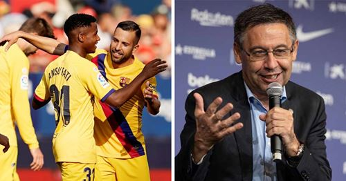 The president happy with Barca's current squad