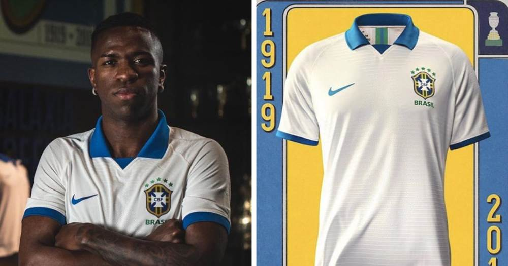 122e43eba81 He unveils the Selecao iconic white kit for the upcoming Copa America.
