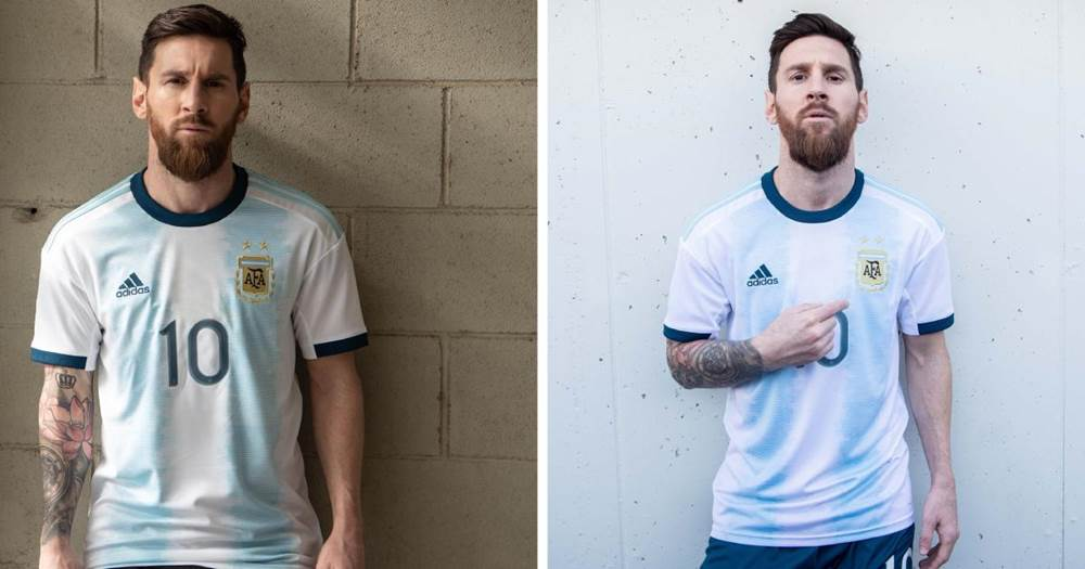 promo code 99dc9 25e54 Messi unveils Argentina new kit for this summer's Copa ...