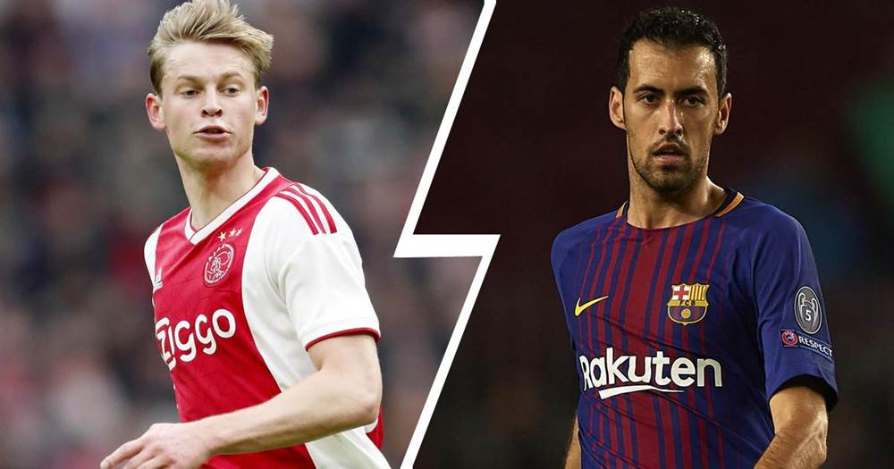 Image result for sergio busquets frenkie de jong