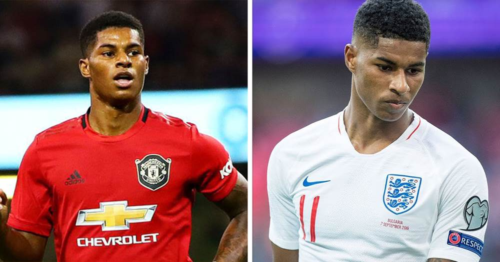 huge discount 16daf 9af73 Could Marcus Rashford become a great No.9 for United ...