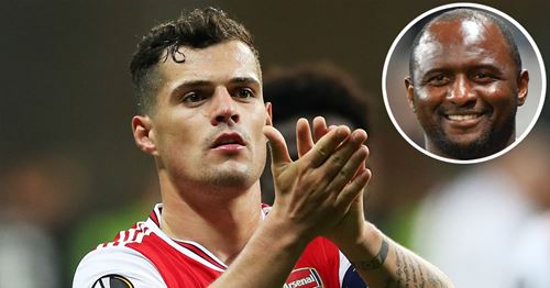 Vieira: 'Xhaka deserves a lot of respect'