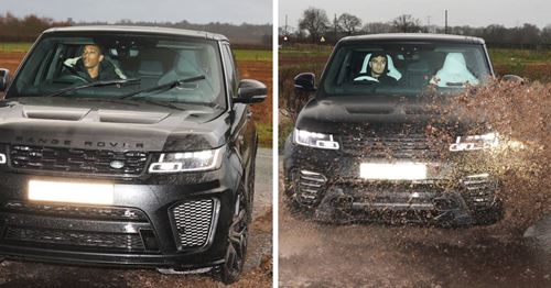 United stars brave the rain on their way to Carrington