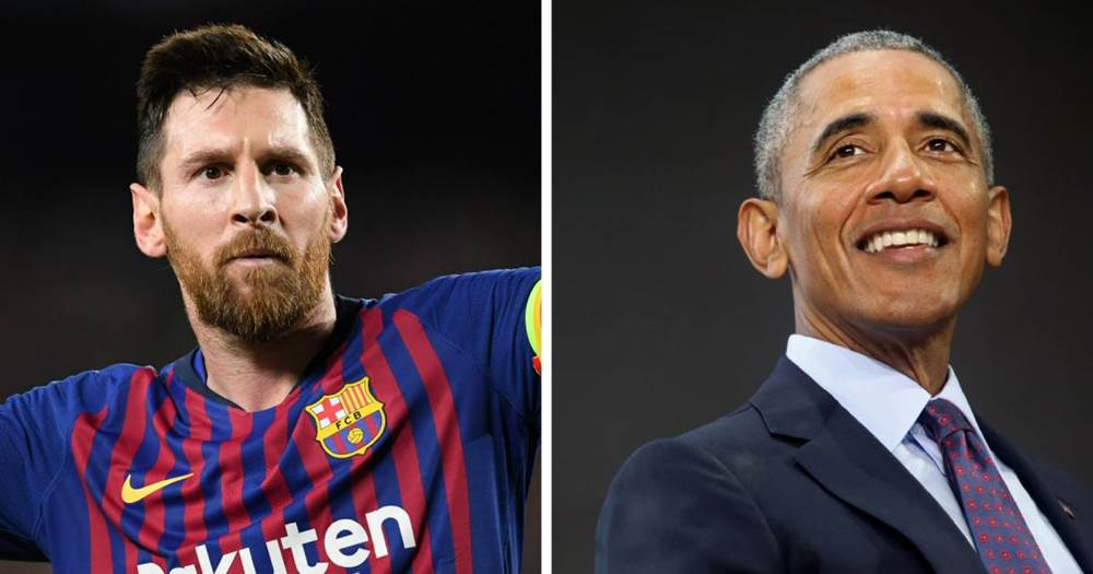 Image result for images of Barack Obama offers advice to 'wonderful' Messi