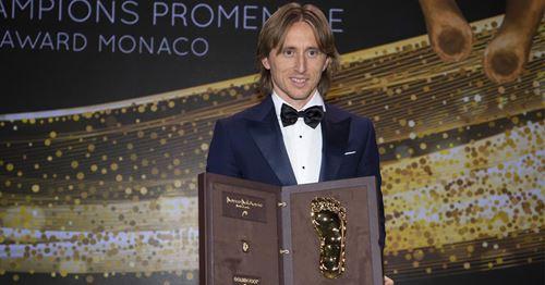 Behind the Scenes: Watch Luka Modric receive 2019 Golden Foot award in Monaco