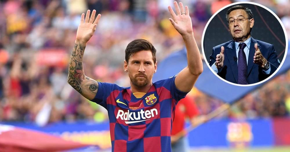 Bartomeu: 'Messi can leave whenever he wants'