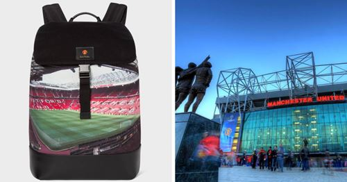United backpack with Stretford End picture banned from Old Trafford