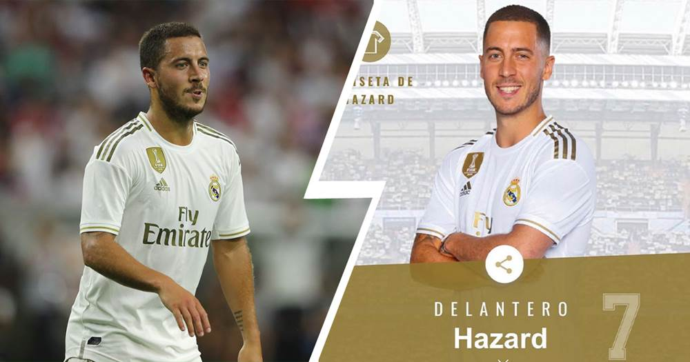 the latest 0af55 c9b7a OFFICIAL: Eden Hazard will wear Number 7 jersey at Real ...