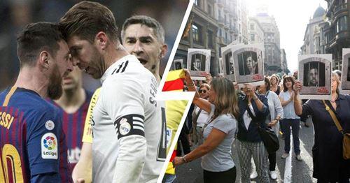 Comment les manifestations de masse à Barcelone pourraient affecter le Clasico de la semaine prochaine: explication d'une minute