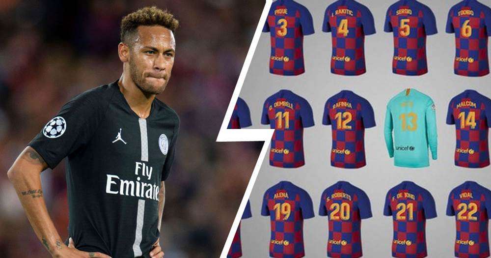 pretty nice 832ad 9d29a Only one number left at Barca: which jersey could Neymar and ...