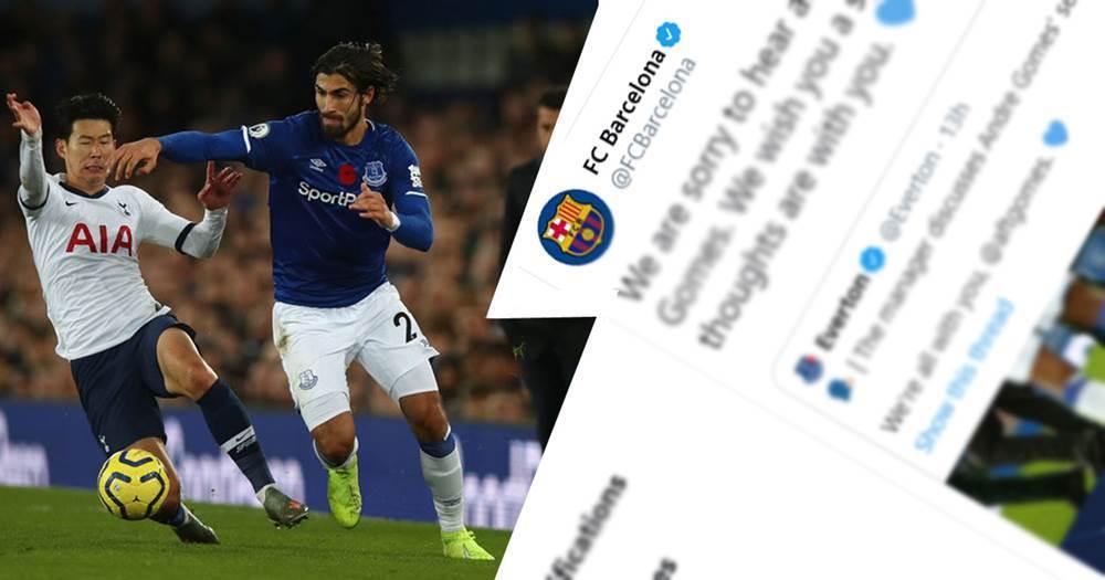 Barcelona sendet eine Unterstützungsbotschaft an Andre Gomes nach seiner schrecklichen Verletzung