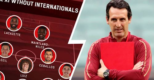 What Arsenal's strongest XI would look like without internationals