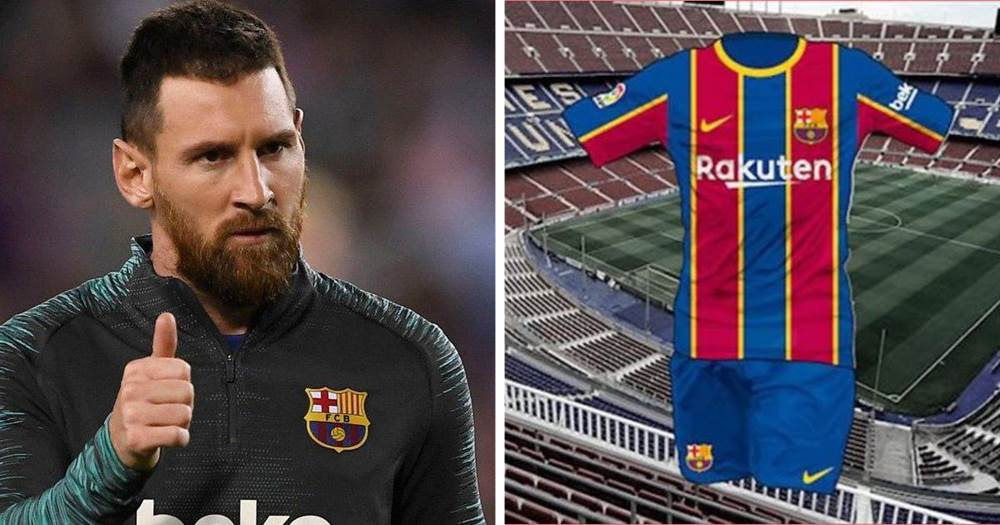 Barca S Rumoured 2020 2021 Home Kit Gets Leaked Tribuna Com