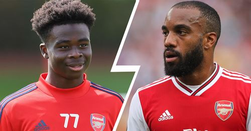 Saka ready to fight Lacazette for place in starting XI