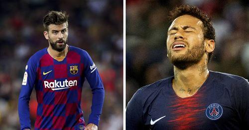 Pique reveals his message to Neymar after failed Barca transfer