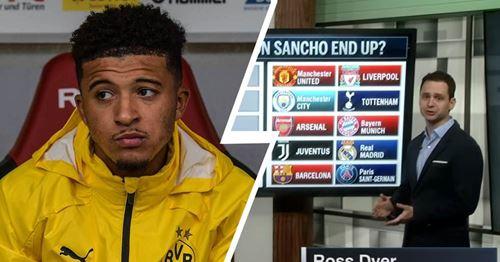 Where will Jadon Sancho end up amid 10-club transfer battle? (video)
