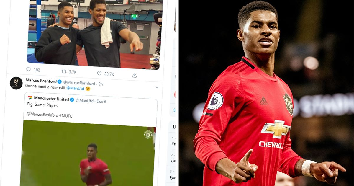 Marcus Rashford Unstoppable On The Pitch Even More Unstoppable On Twitter After City Win Tribuna Com