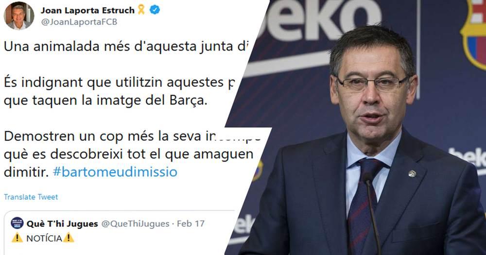 """Laporta: """"Barselona"""" rahbariyati iste'foga chiqishi kerak """""""