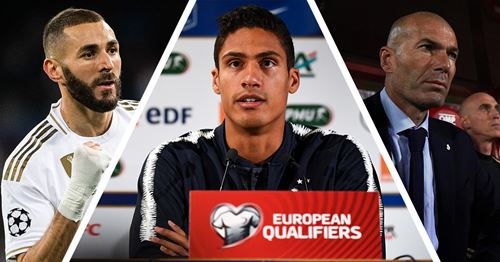 Varane reacts to Zidane-Deschamps argument over Benzema in France squad: 'There is no taboo subject'