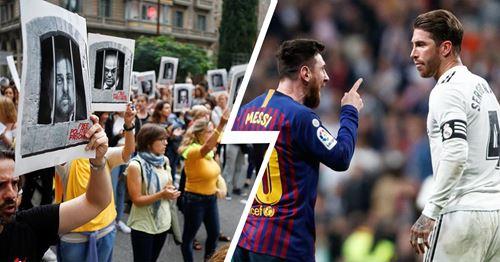 Cómo las protestas en Barcelona pueden afectar al Clásico: explicado en 1 minuto ☝️