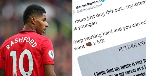 'I only have one aim in life': Marcus Rashford posts old school note that predicted his success at United