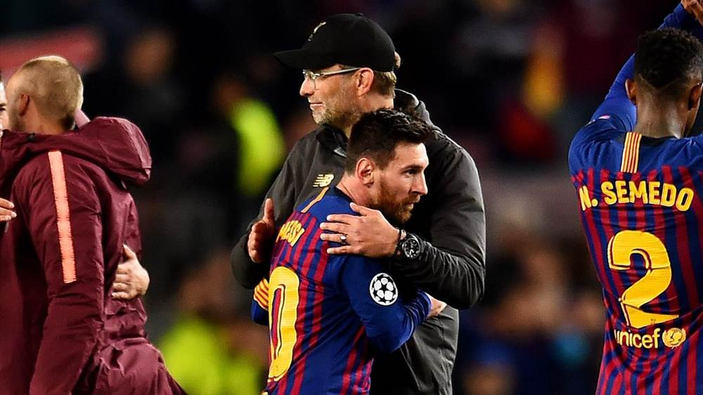 215a98772a1 Klopp lifts lid on what he told Messi after 3-0 defeat at Camp Nou ...