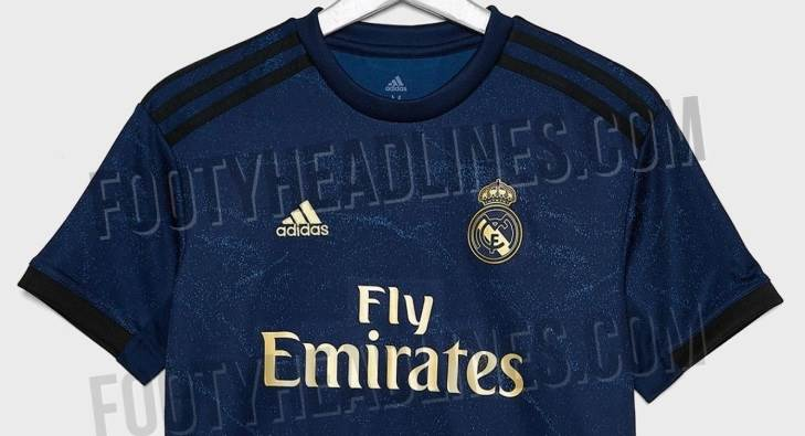 premium selection bacc6 ffb8d Leaked: New pictures of Real Madrid's blue/gold 2019/20 away ...
