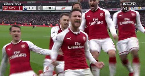 Throwback to Shkodran Mustafi's towering header against Tottenham in 2017 (video)
