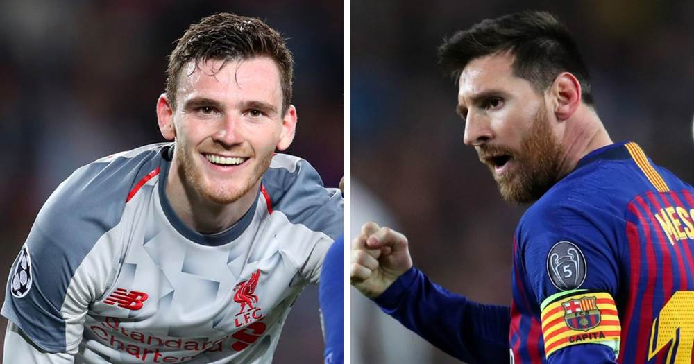Image result for Robertson and Messi