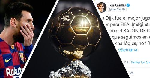 Casillas lists bizarre reason why Ronaldo might win Ballon d'Or ahead of Messi