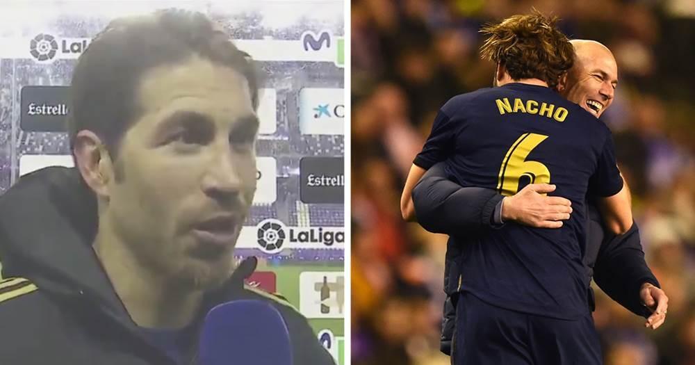 """Sergio Ramos: """"Die Umarmung zwischen Nacho und Zidane bringt die Einheit dieser Mannschaft zum Ausdruck"""" - logo"""