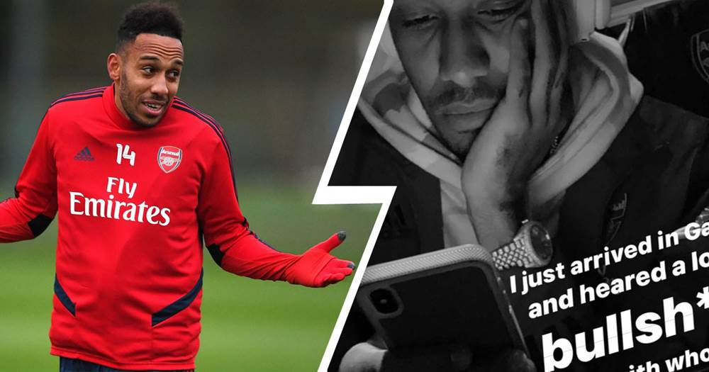 'I talk with who I want' - Aubameyang sends cryptic middle-finger message via social media - logo