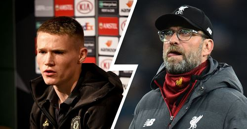 McTominay on whether he'd be happy to see Liverpool denied the title: 'That is a difficult question to answer'