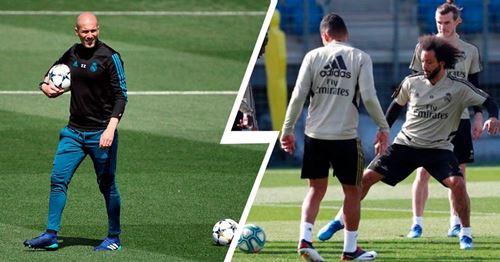 Zidane trainiert mit fast kompletten Kader vor dem Duell gegen Barcelona